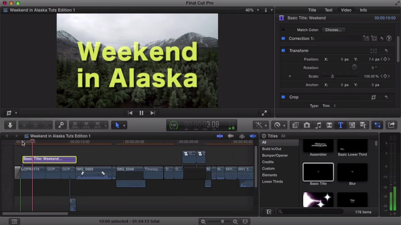How to Create Titles in Final Cut Pro