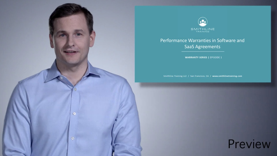 Performance Warranties In Software And Saas Agreements Smithline