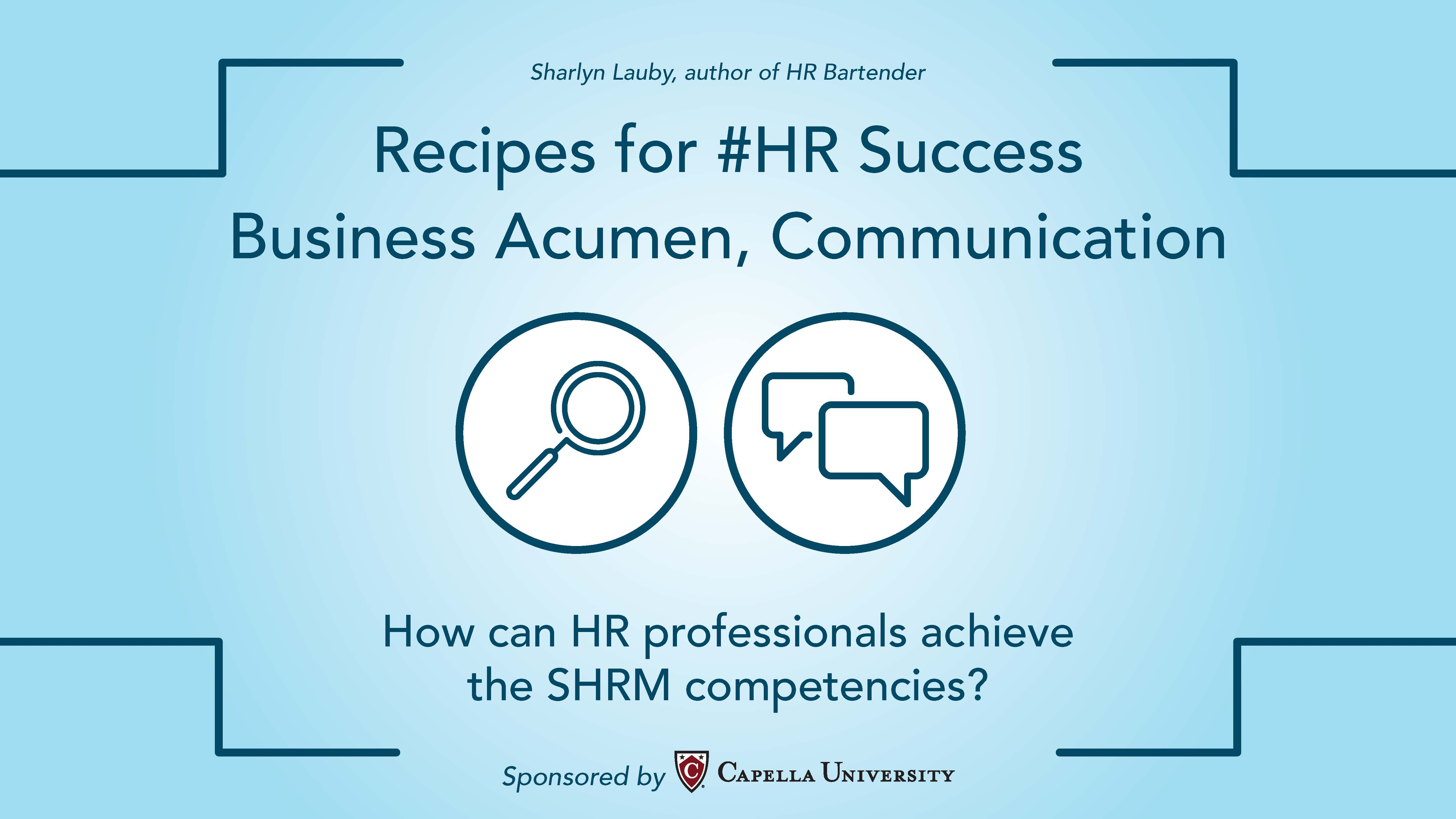 Recipes for hr success communication and business acumen ccuart Choice Image
