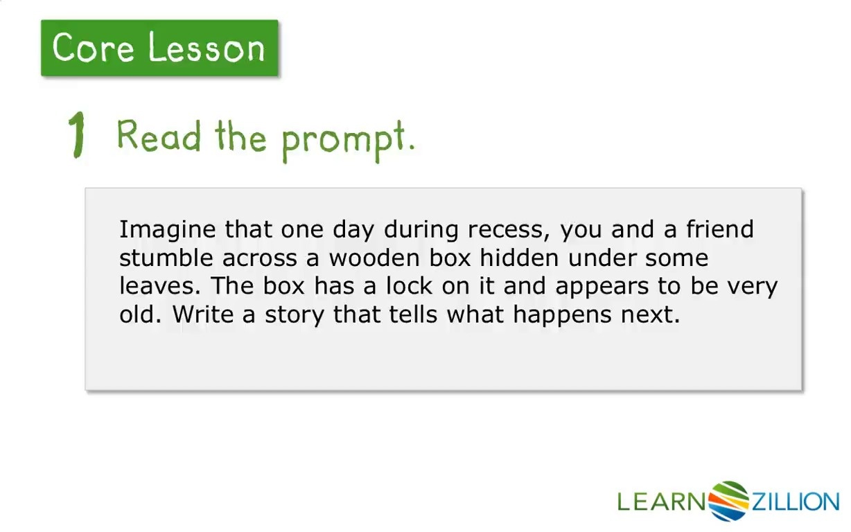 Lesson Video For Reading And Understanding A Writing Prompt