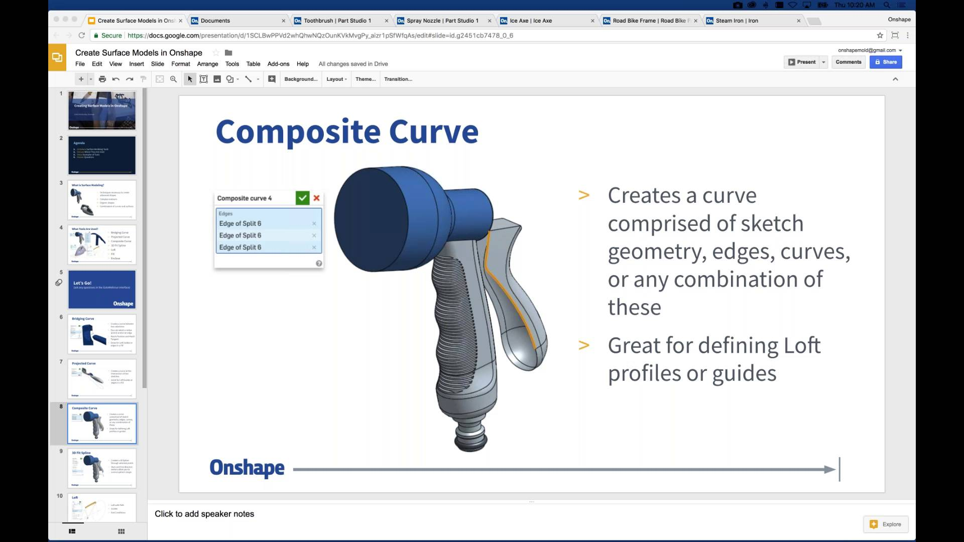 Creating Surface Models in Onshape on