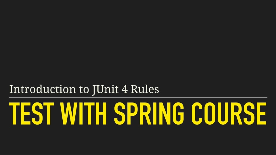 Introduction to JUnit 4 Rules 2nd Edition mp4