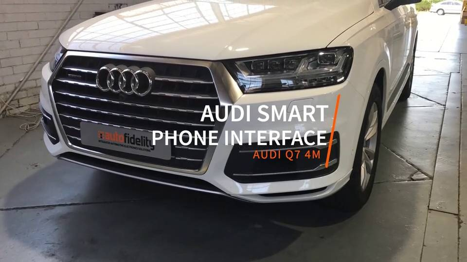 Audi Q7 4M Smartphone Interface