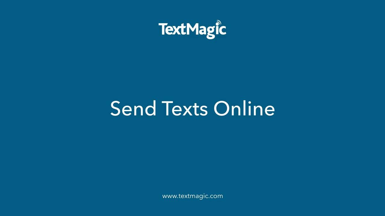 Send texts online Landing page