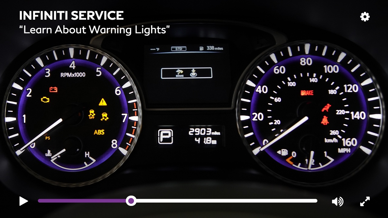 Learn about the warning lights on your INFINITI Vehicle