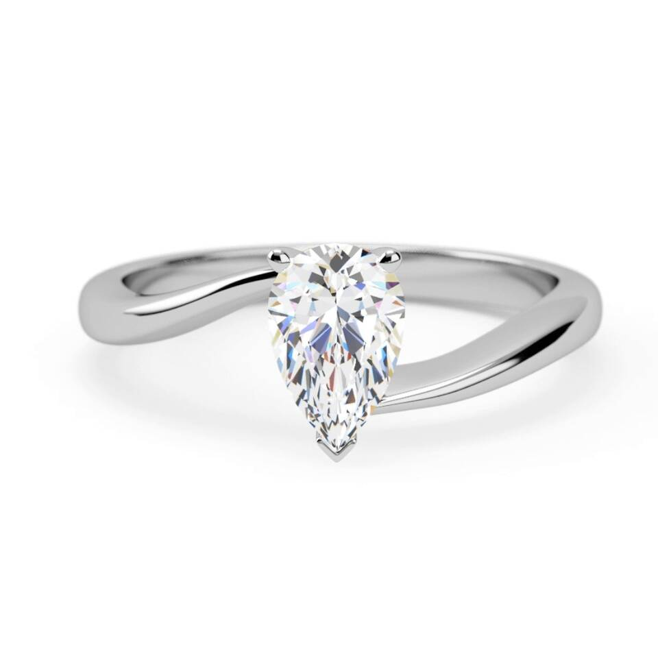 ee1d78ac7 Engagement Ring : attractive rubover solitaire pear shape: Samara ...