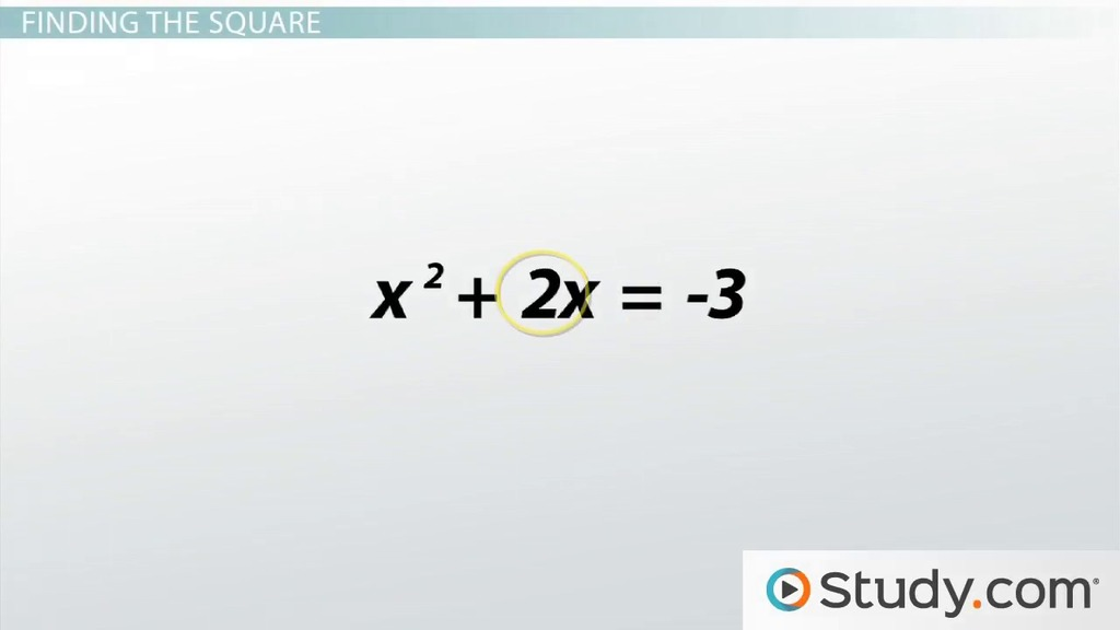 Write the Standard Form of an Equation by Completing the Square ...