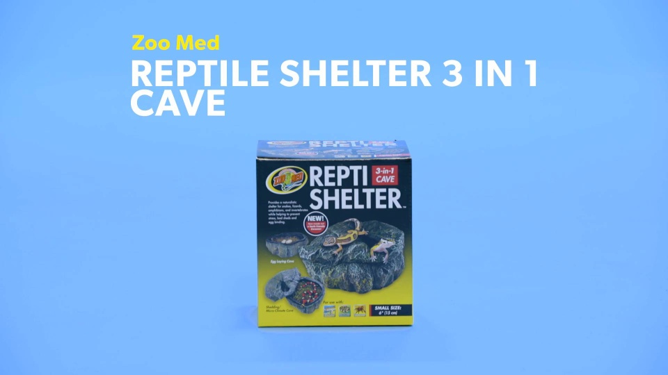Zoo Med Reptile Shelter 3 in 1 Cave, Small - Chewy com