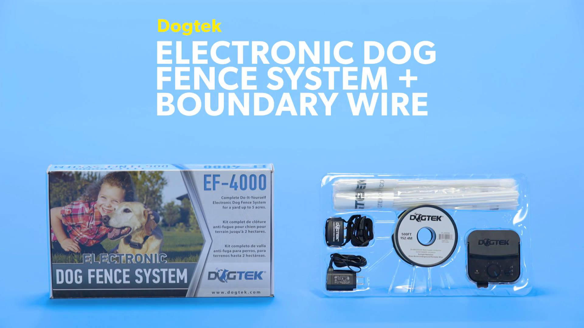 Dogtek Electronic Dog Fence System - Chewy.com