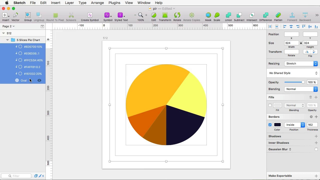 2 quick methods for creating pie charts in sketch nvjuhfo Gallery