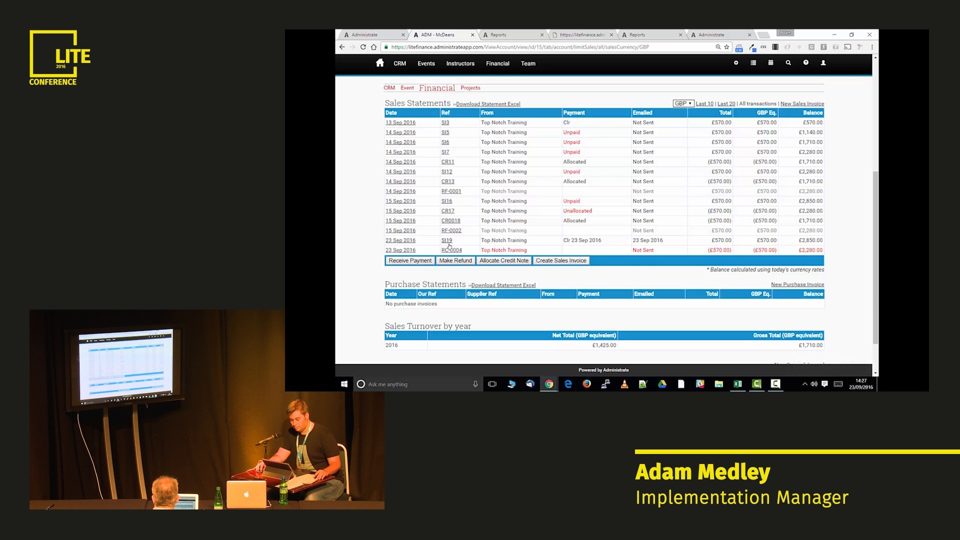 Using the Financial Reporting Feature [Nate Smith & Adam Medley]