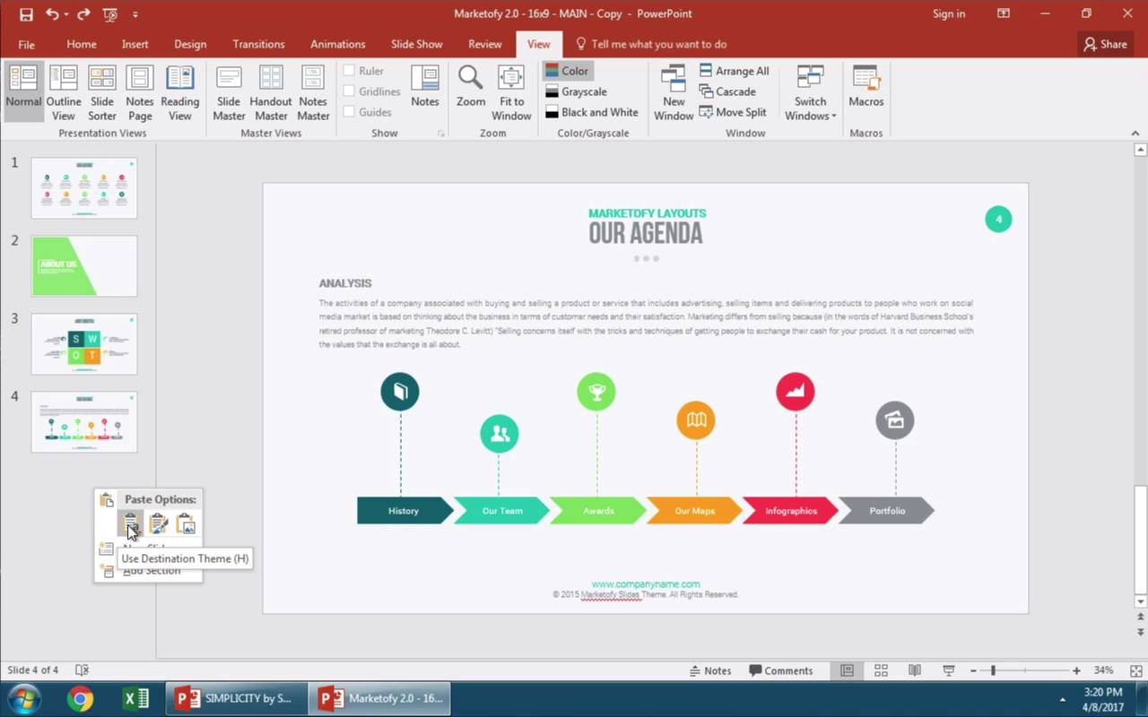 how to copy and paste slides into powerpoint in 60 seconds
