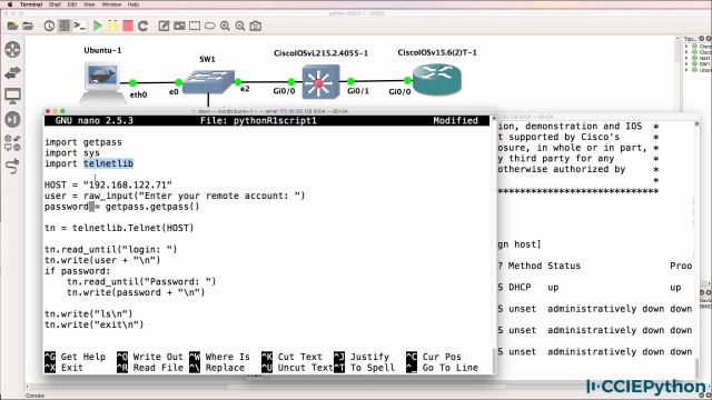 GNS3 Python Part 1 - CCIEPython mp4