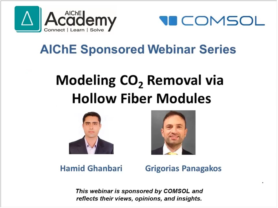 Modeling CO2 Removal with Hollow-Fiber Modules in COMSOL®