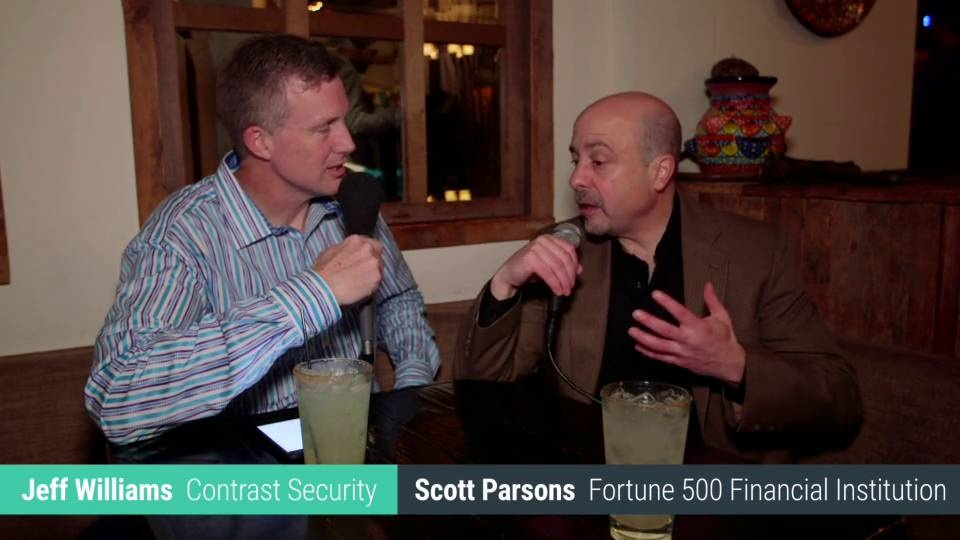 Wistia video thumbnail - On The Street Interview: Instrumenting Application Security with Scott Parson, Fortune 500 Financial Company