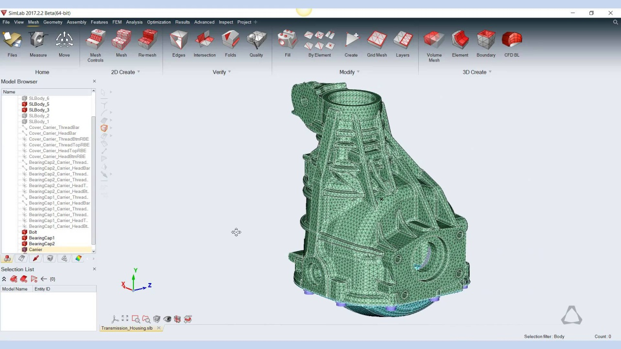 SimLab Demo - Replace part in FE Assembly