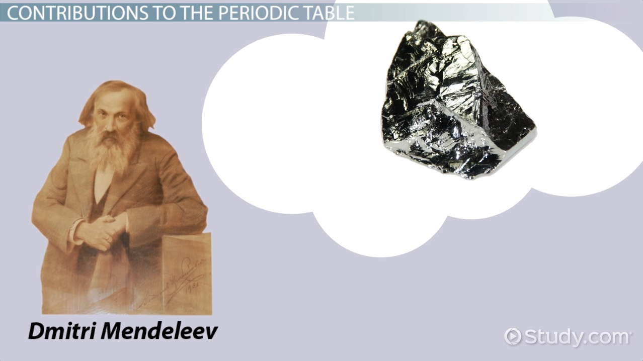 Dmitri mendeleev the periodic table biography contribution dmitri mendeleev the periodic table biography contribution facts video lesson transcript study gamestrikefo Choice Image