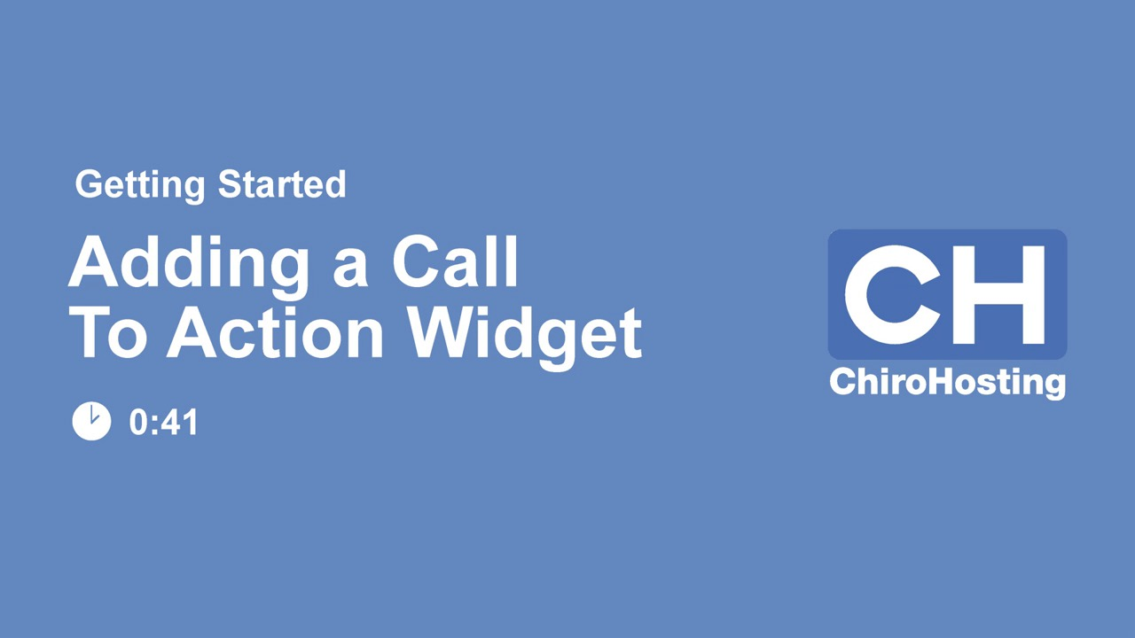 Add Call To Action Widget