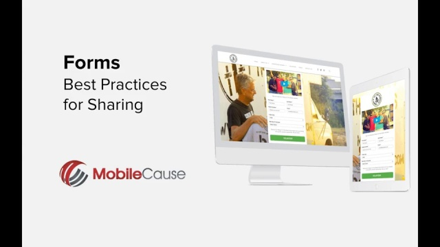 Forms - Best Practices for Sharing | MobileCause