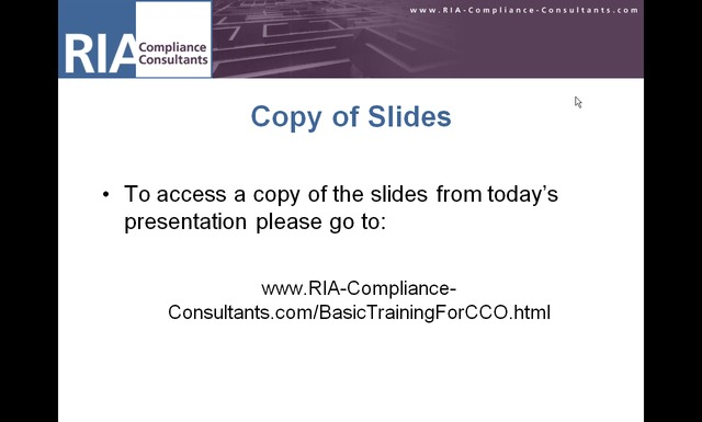 basic training for a cco of an investment adviser ria compliance rh ria compliance consultants com investment advisor compliance manual florida investment advisor compliance manual template