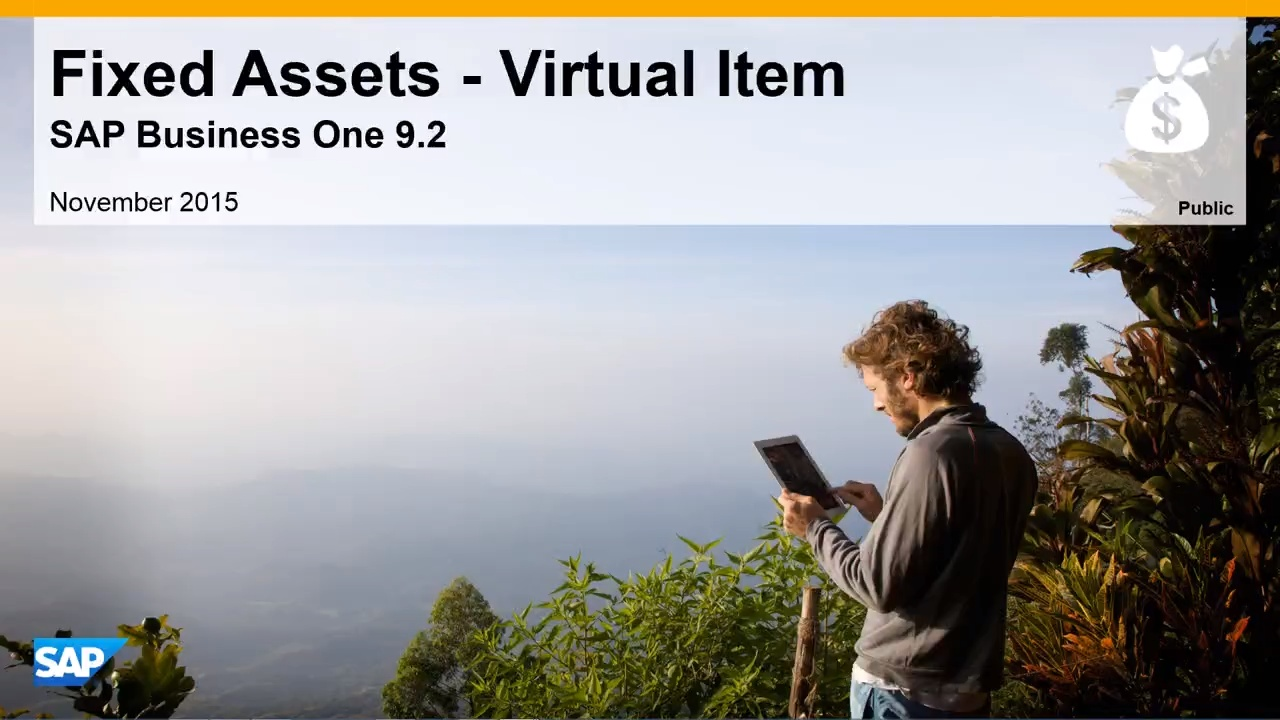 Fixed Assets - Virtual Items in SAP Business One