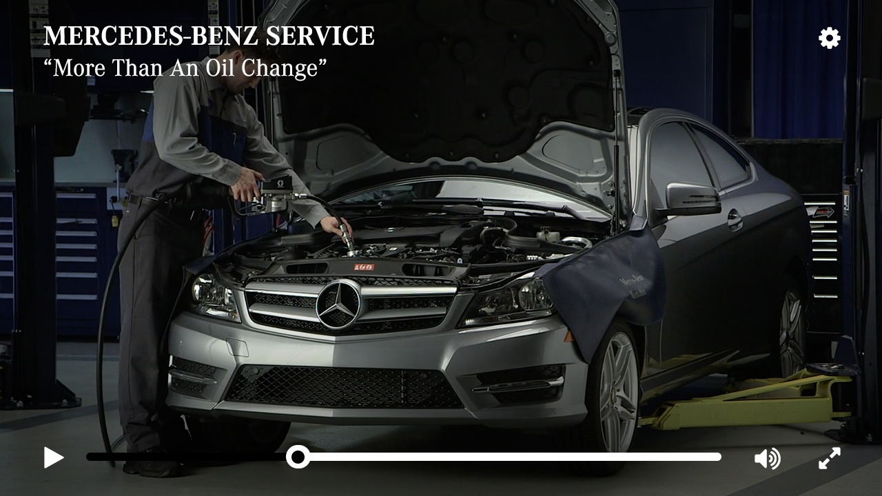 Service A More Than an Oil Change Mercedes Benz