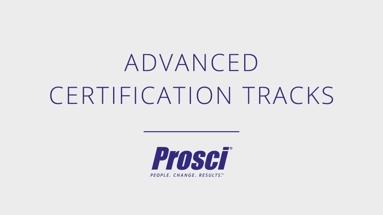 Advanced Certification Tracks