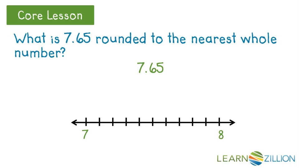 Round Decimals To The Nearest Whole Number Learnzillion