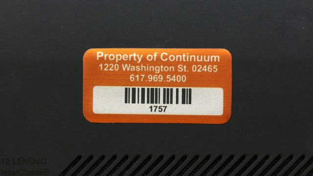 Laptop and Computer Asset Tags