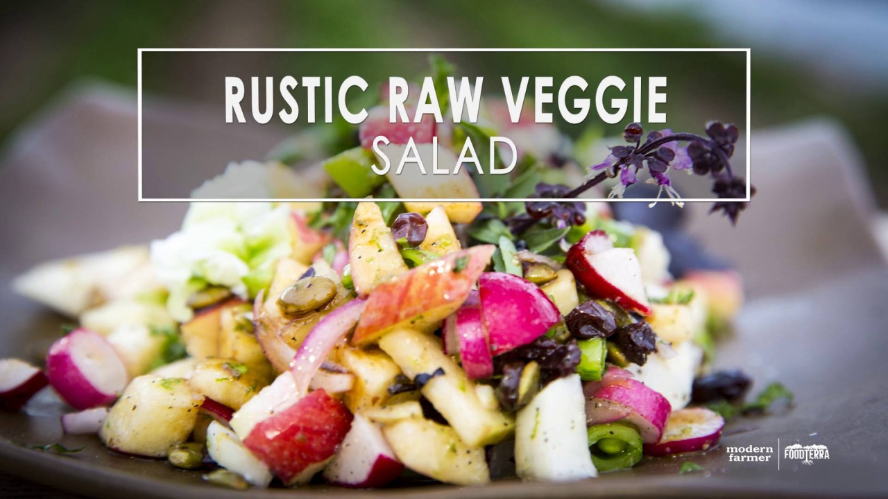 Csa cooking rustic raw garden veggie salad with video modern farmer video thumbnail forumfinder Image collections