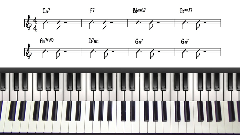 Jazz Piano Comping Voicings Comping Chords Rhythms Tutorial