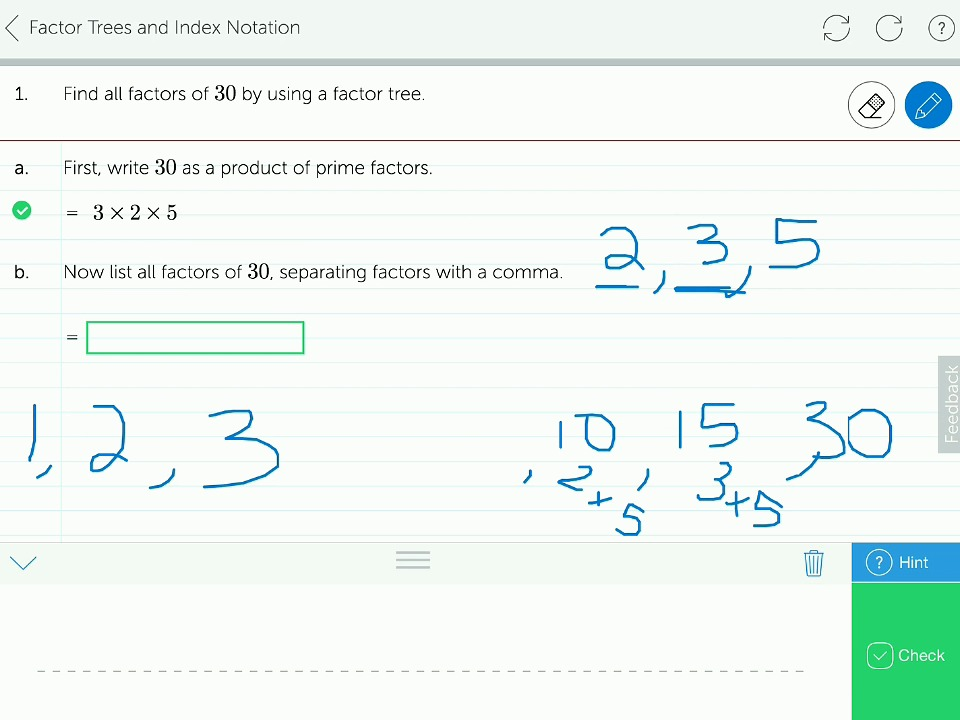 Mathspace Using Powers to Express Numbers – Prime Factorization Tree Worksheet