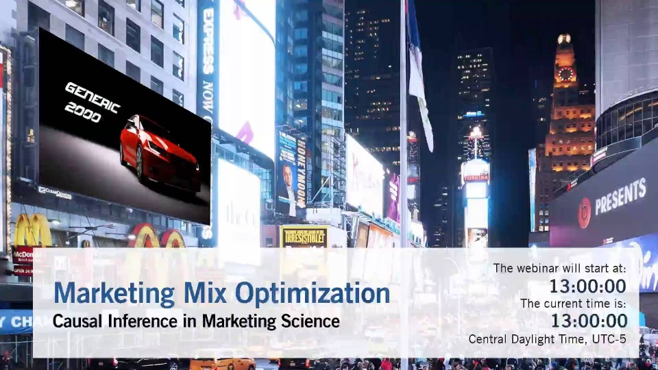 Webinar: Marketing Mix Modeling and Optimization with Bayesian Networks