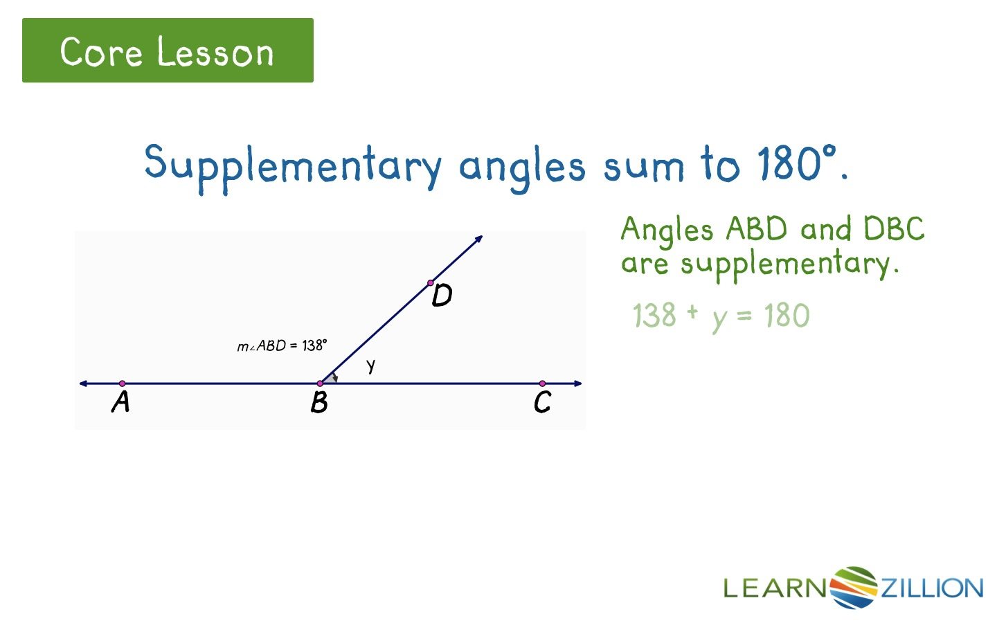 worksheet Supplementary Angles find angle measurements using complementary and supplementary angles learnzillion