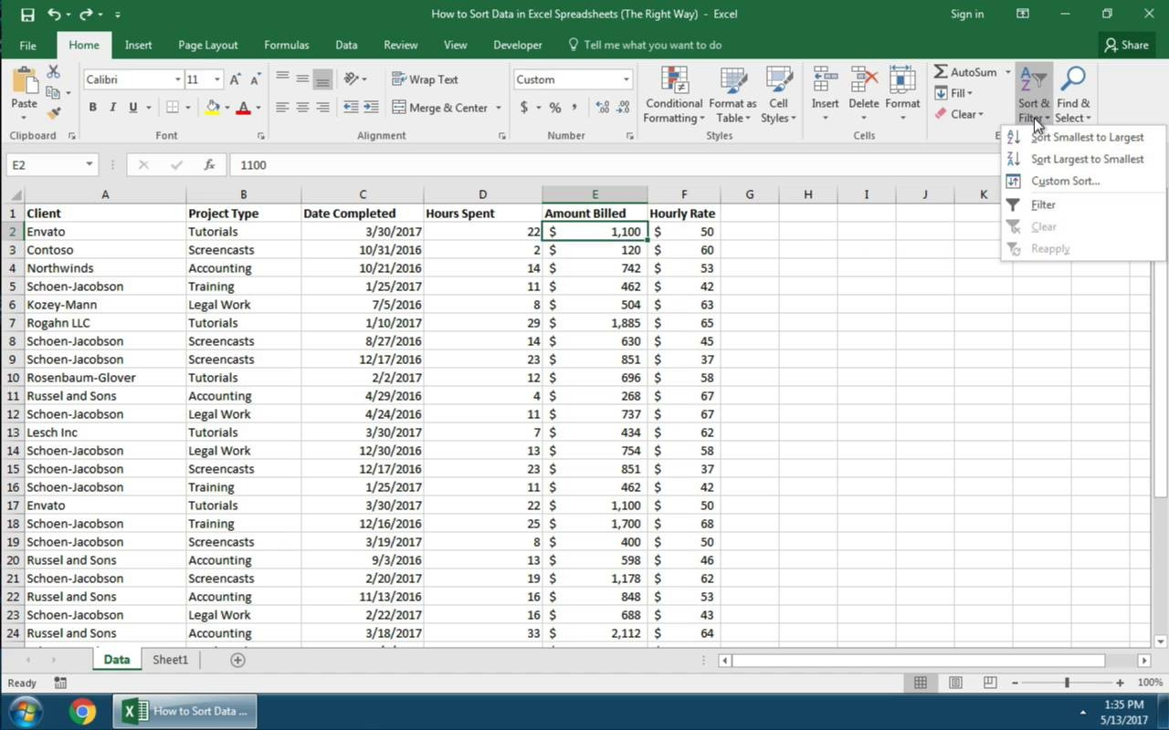 How to Quickly Sort Data in Excel Spreadsheets