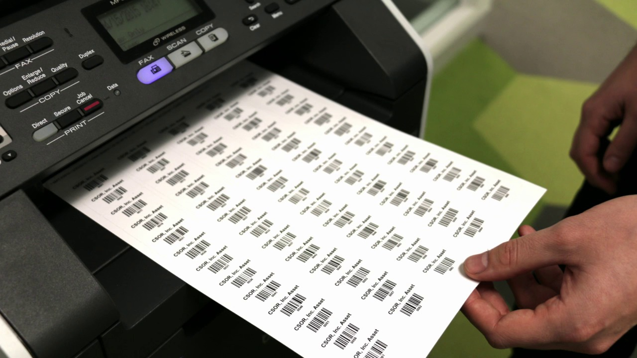 graphic about Laser Printable Vinyl titled Substance For Print Your Particular Barcode Labels
