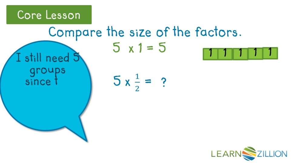 Predict The Product Of Multiplying A Fraction Less Than One By A