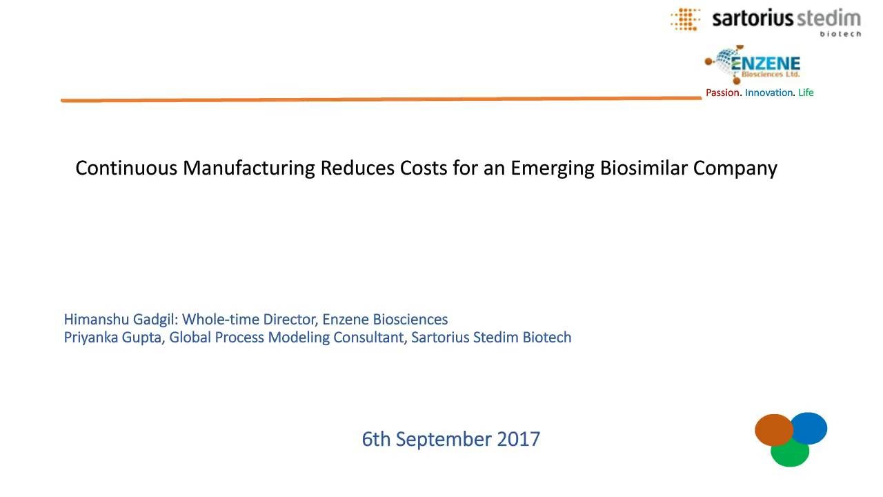 Webinar: Continuous Manufacturing Reduces Costs for an Emerging Biosimilar  Company