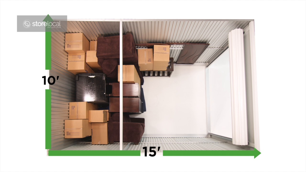 Unit Size 10u0027 X 15u0027 (150 SQ. FT.)  sc 1 st  Stop N Stor & Self Storage Units | Size Guide | Stop N Stor