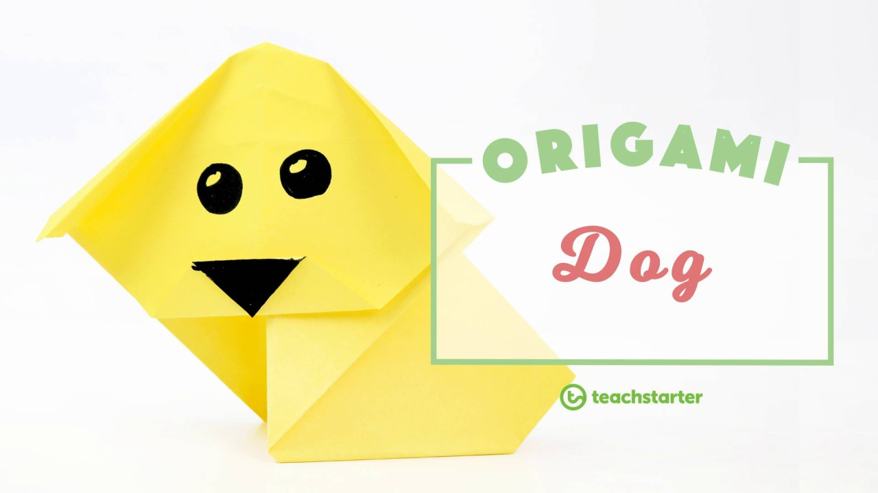 Origami Dog Step By Instructions Teaching Resource Teach Starter Diagram Video Thumbnail