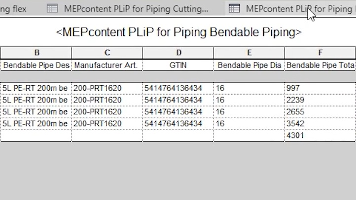 Product Line Placer for Piping - Predefined Schedules