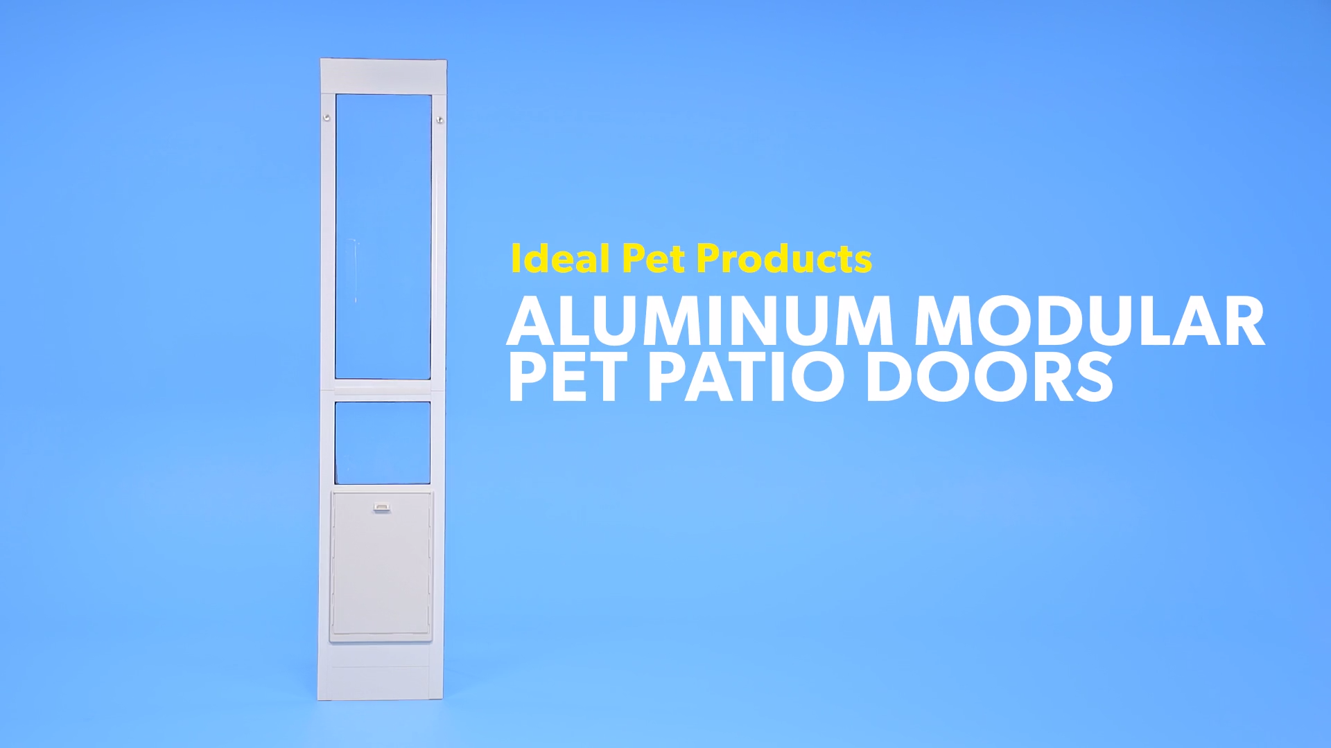 Watch our Ideal Pet Products video  sc 1 th 168 & Ideal Pet Products Aluminum Modular Pet Patio Doors White Small ...