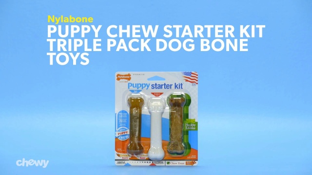 Nylabone Puppy Chew Starter Kit Triple Pack Dog Bone Toys