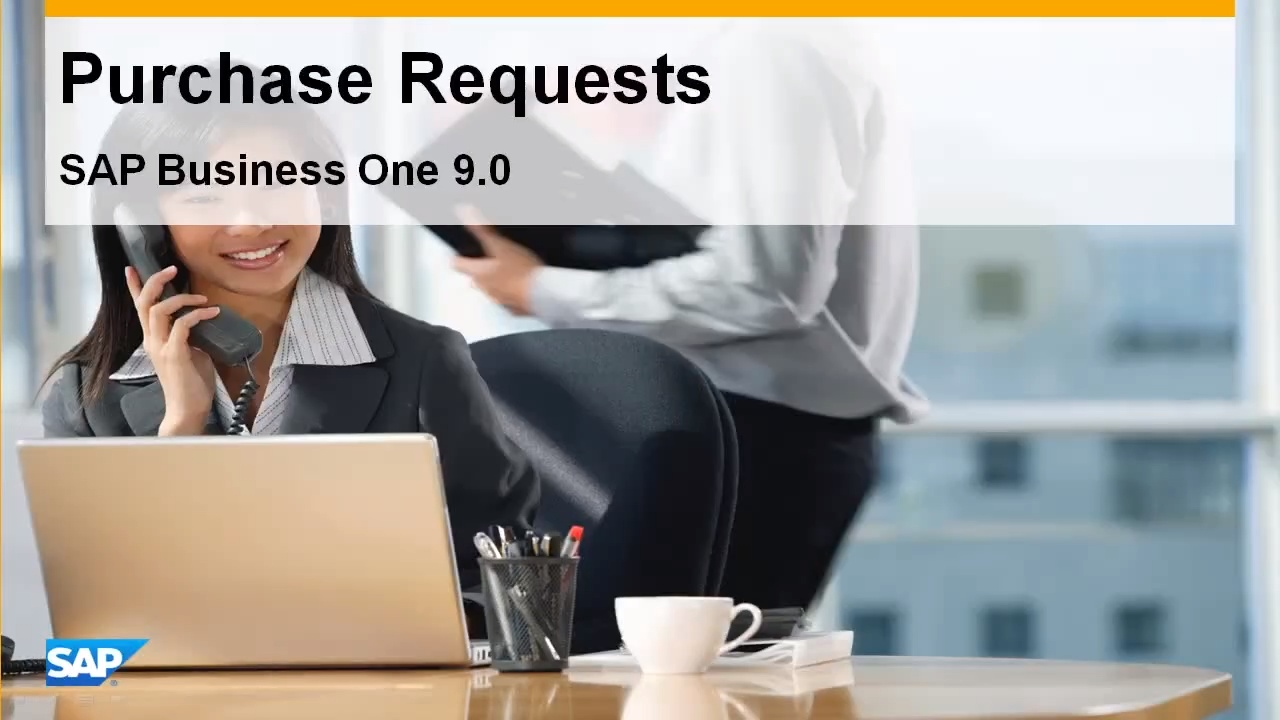 Purchase Request in SAP Business One 9 0 - Feature Clip