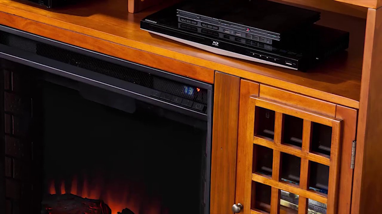 southern enterprises sei narita media console with fireplace
