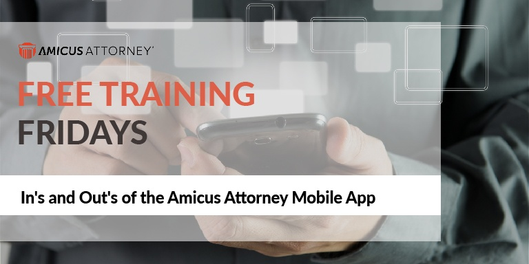 In's and Out's of the Amicus Attorney Mobile App