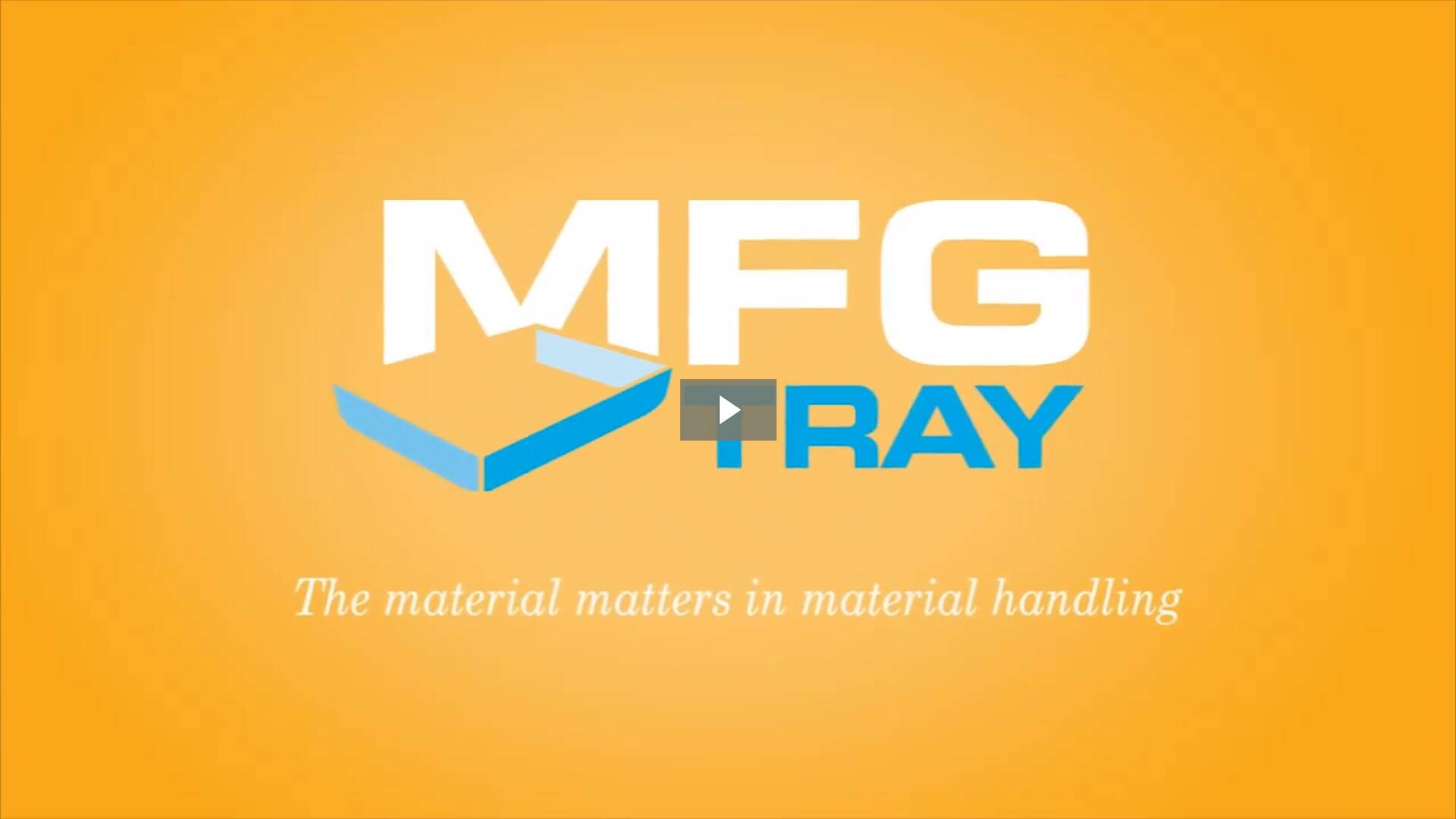 Fiberglass Pharmaceutical Video by MFG Tray