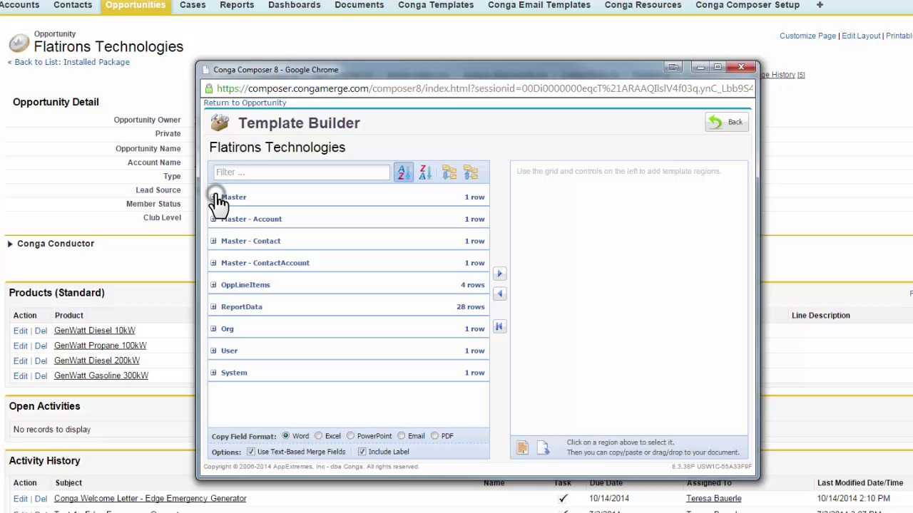 How to Navigate the Conga Template Builder - Conga Support