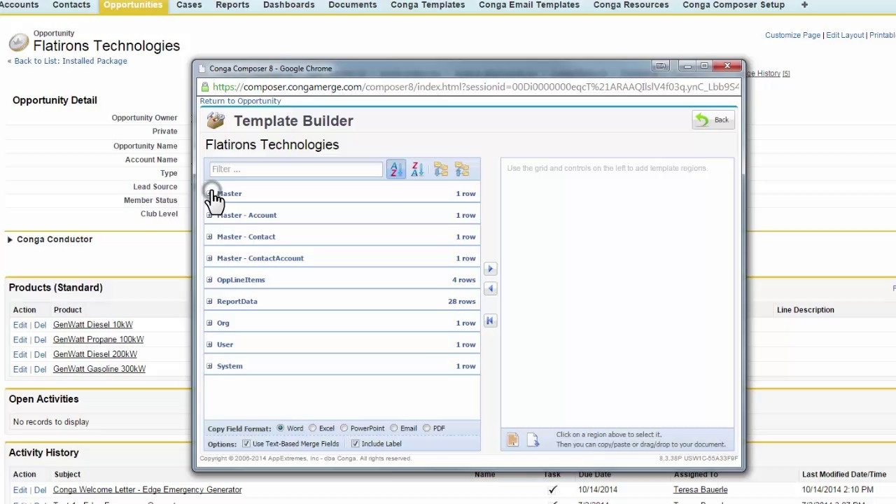 Template Builder | How To Navigate The Conga Template Builder Conga Support