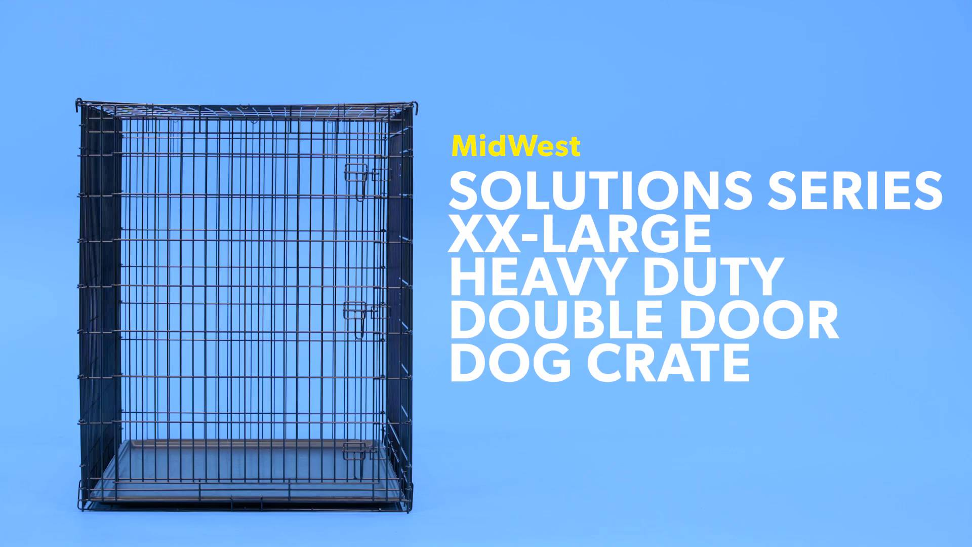 Midwest Solutions Series Xx Large Heavy Duty Double Door Dog Crate